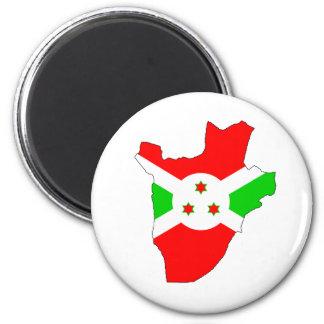 Mapa de la bandera de Burundi del mismo tamaño Imán