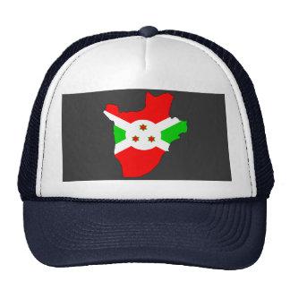 Mapa de la bandera de Burundi Gorros