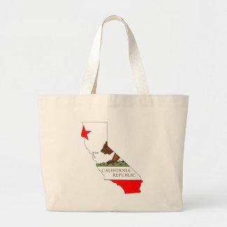 Mapa de la bandera de California Bolsas