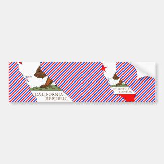 Mapa de la bandera de California Pegatina De Parachoque