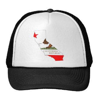 Mapa de la bandera de California Gorras