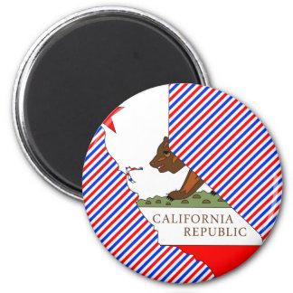 Mapa de la bandera de California Iman De Frigorífico
