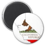 Mapa de la bandera de California Iman De Nevera