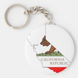 Mapa de la bandera de California Llaveros