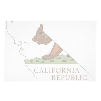Mapa de la bandera de California Papeleria De Diseño