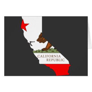 Mapa de la bandera de California Felicitación