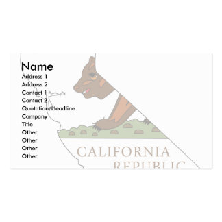 Mapa de la bandera de California Plantilla De Tarjeta Personal