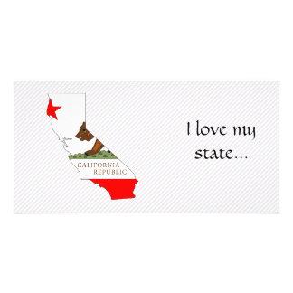 Mapa de la bandera de California Tarjetas Personales