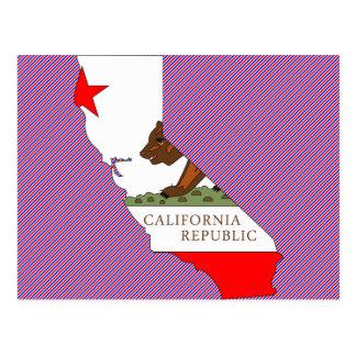Mapa de la bandera de California Postales
