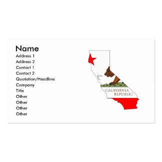 Mapa de la bandera de California Tarjetas De Visita
