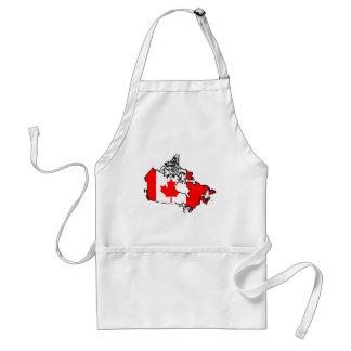 mapa de la bandera de Canadá Delantal