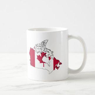 Mapa de la bandera de Canadá Taza De Café
