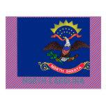 Mapa de la bandera de Carolina del Norte Postales
