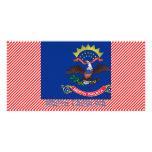 Mapa de la bandera de Carolina del Norte Tarjetas Fotograficas