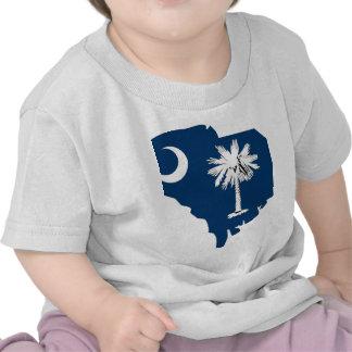Mapa de la bandera de Carolina del Sur Camiseta