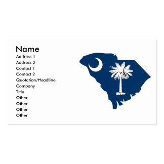 Mapa de la bandera de Carolina del Sur Tarjetas De Visita