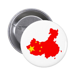 Mapa de la bandera de China del mismo tamaño Pin Redondo 5 Cm