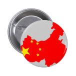 Mapa de la bandera de China Pins