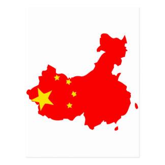 Mapa de la bandera de China Postal