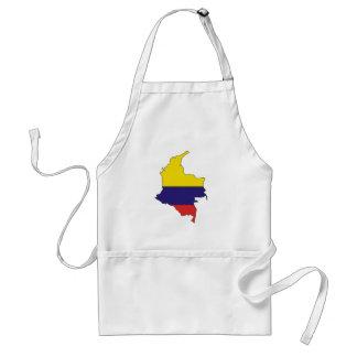 Mapa de la bandera de Colombia del mismo tamaño Delantales