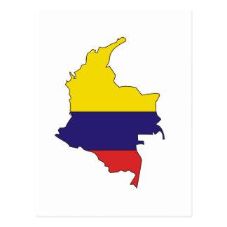 Mapa de la bandera de Colombia Postal