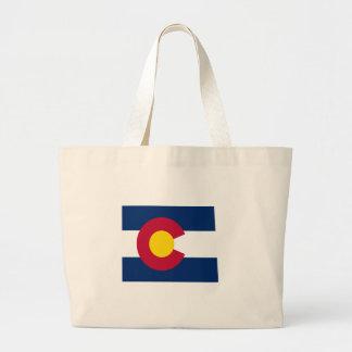 Mapa de la bandera de Colorado Bolsa Tela Grande