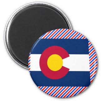 Mapa de la bandera de Colorado Imán Redondo 5 Cm