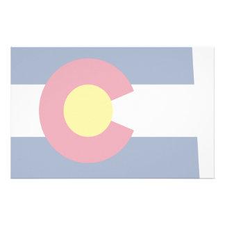 Mapa de la bandera de Colorado Papelería