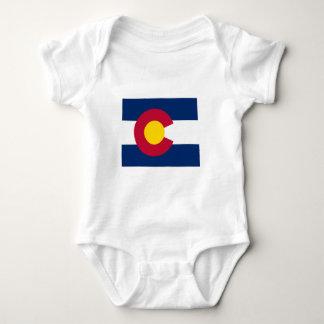Mapa de la bandera de Colorado Camisetas