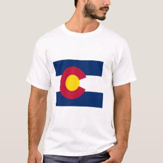 Mapa de la bandera de Colorado Playera
