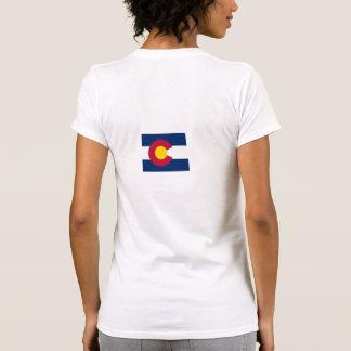 Mapa de la bandera de Colorado Tshirt