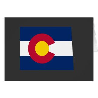Mapa de la bandera de Colorado Tarjeta De Felicitación