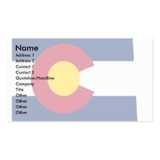 Mapa de la bandera de Colorado Tarjetas De Visita