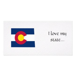 Mapa de la bandera de Colorado Tarjeta Personal Con Foto