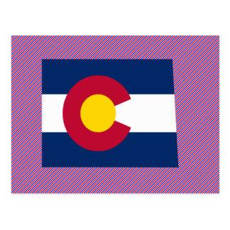 Mapa de la bandera de Colorado Postales