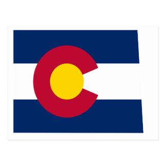Mapa de la bandera de Colorado Tarjetas Postales