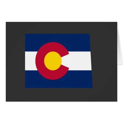 Mapa de la bandera de Colorado Tarjetón
