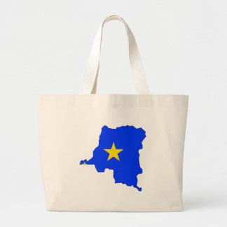 Mapa de la bandera de Congo Kinshasa del mismo tam Bolsa Tela Grande