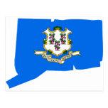 Mapa de la bandera de Connecticut Postal