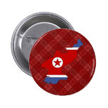 Mapa de la bandera de Corea del Norte del mismo ta Pins