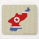 Mapa de la bandera de Corea del Norte del mismo ta Tapete De Ratón