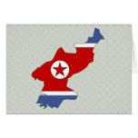 Mapa de la bandera de Corea del Norte del mismo ta Tarjeton
