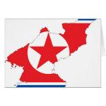 Mapa de la bandera de Corea del Norte Felicitacion