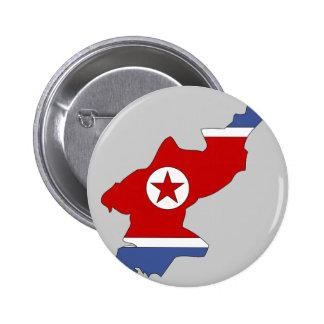 Mapa de la bandera de Corea del Norte Pins