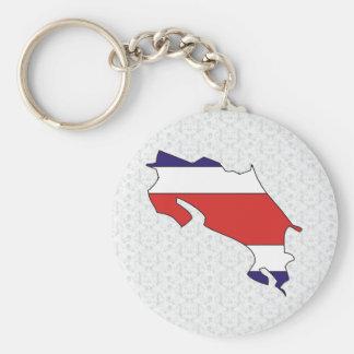 Mapa de la bandera de Costa Rica del mismo tamaño Llavero Redondo Tipo Pin