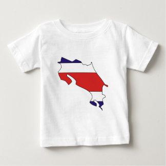 Mapa de la bandera de Costa Rica del mismo tamaño Tee Shirt