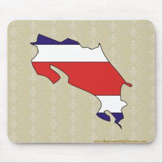 Mapa de la bandera de Costa Rica del mismo tamaño Mouse Pads