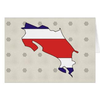 Mapa de la bandera de Costa Rica del mismo tamaño Tarjeta De Felicitación