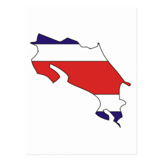 Mapa de la bandera de Costa Rica Postales