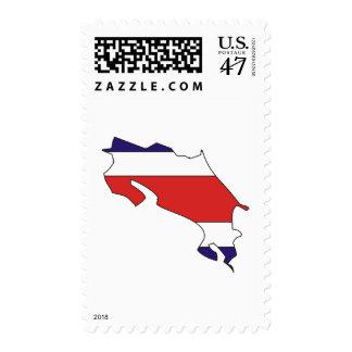 Mapa de la bandera de Costa Rica Sellos